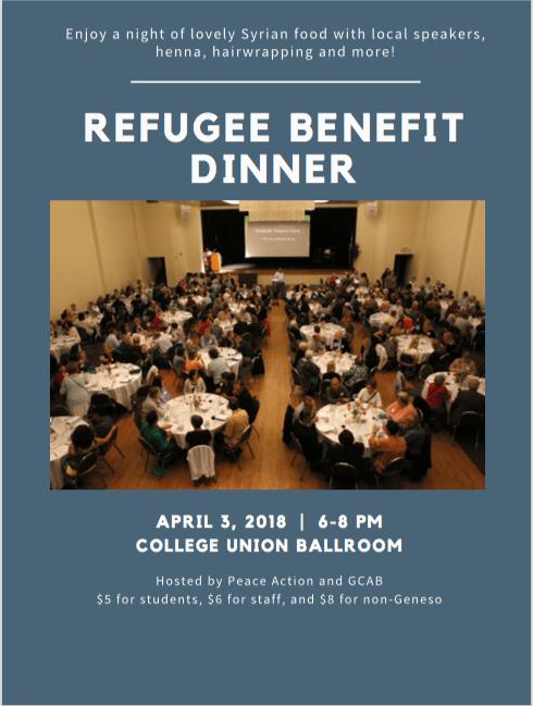SUNY Geneseo Refugee Benefit Dinner