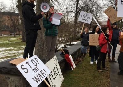 End endless war - Peace activists in Geneseo, NY