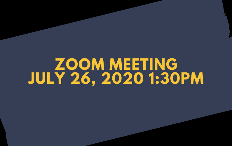 Zoom Meeting July 26, 2020 1:30 PM