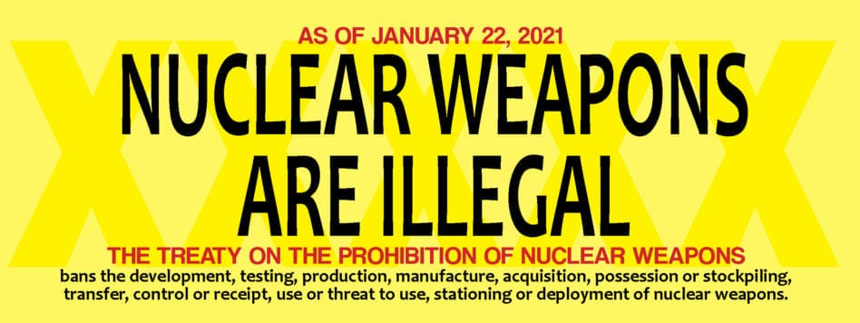Nuclear weapons are illegal